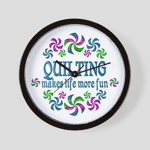 Quilting Fun Wall Clock