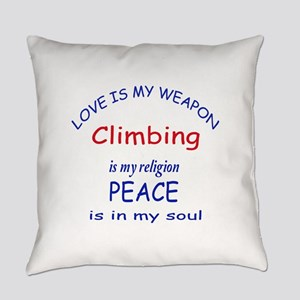 Climbing is my Religion Everyday Pillow