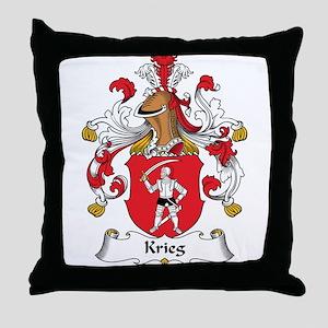Krieg Family Crest Throw Pillow