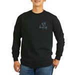 Shower with a Coastie Long Sleeve Dark T-Shirt