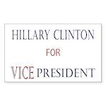 Vice President Hillary Rectangle Sticker 10 pk)