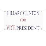 Vice President Hillary Banner