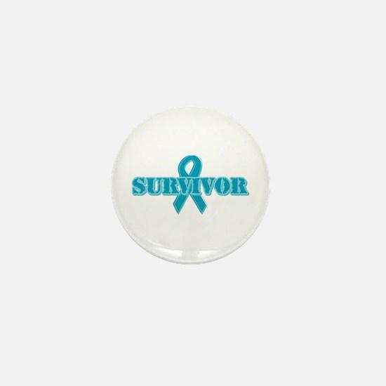Teal Ribbon Survivor Mini Button (10 pack)