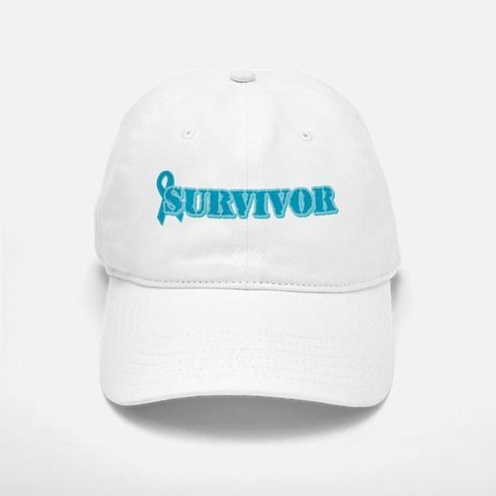 Teal Ribbon Survivor Baseball Baseball Cap