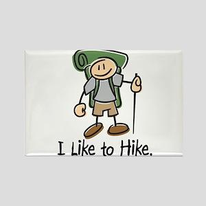 I Like To Hike (Green) Rectangle Magnet