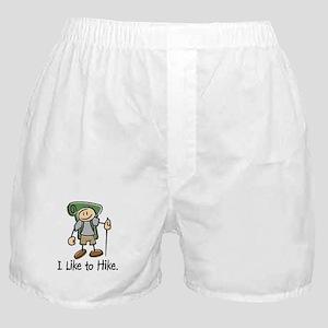 I Like To Hike (Green) Boxer Shorts