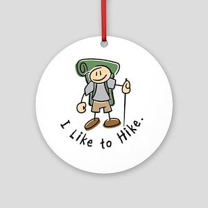 I Like To Hike (Green) Ornament (Round)