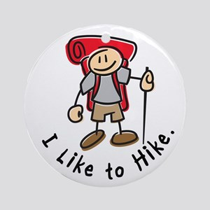 I Like To Hike (Red) Ornament (Round)