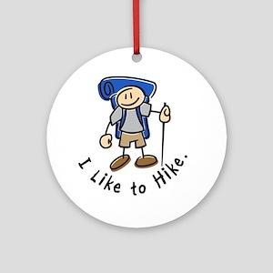 I Like To Hike (Blue) Ornament (Round)