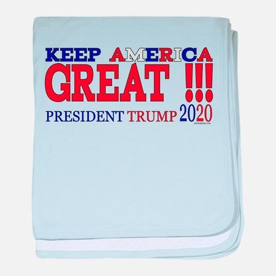 TRUMP | Keep America Great President baby blanket