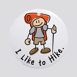 I Like To Hike (Orange) Ornament (Round)