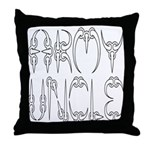 Army Uncle Throw Pillow