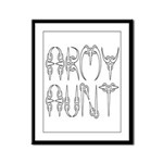 Army Aunt Framed Panel Print