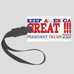 TRUMP | Keep America Great Presi Large Luggage Tag
