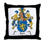 Korn Family Crest Throw Pillow