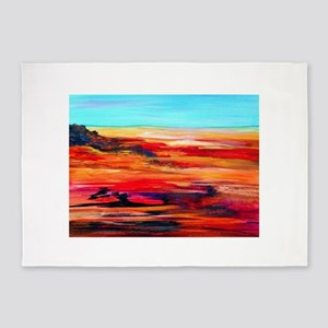Arizona Abstract Landscape 5'x7'Area Rug