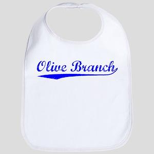 Vintage Olive Branch (Blue) Bib