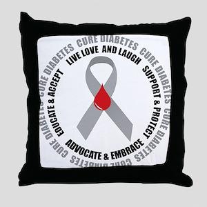 Diabetes Awareness Throw Pillow
