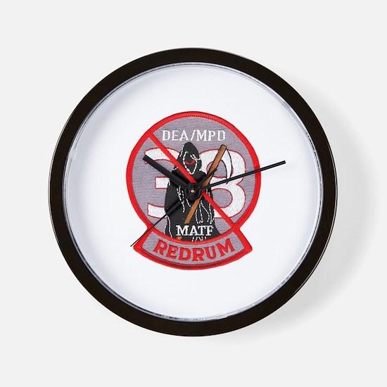 DEA Redrum Wall Clock