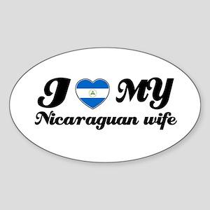 I love my Nicaraguan Wife Oval Sticker