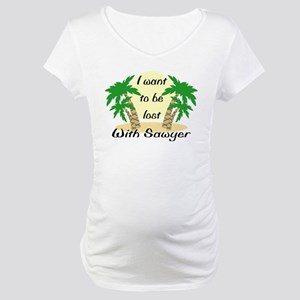 Lost With Sawyer (2) Maternity T-Shirt