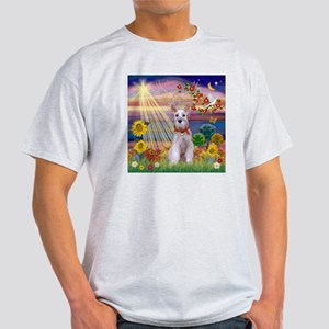 Autumn Angel Schnauzer Light T-Shirt