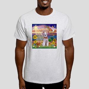 Autumn Angel Schnauzer Light T-Shirt