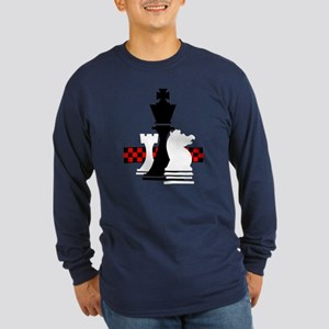 Chess Long Sleeve Dark T-Shirt