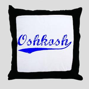 Vintage Oshkosh (Blue) Throw Pillow