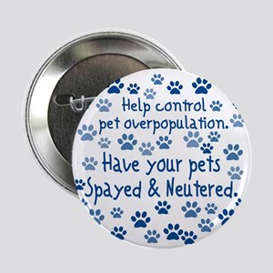 "Help Control - Spayed & Neu 2.25"" Button"