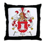 Klotz Family Crest Throw Pillow