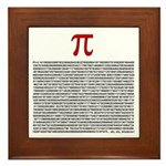 Pi = 3.1415926535897932384626 Framed Tile