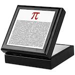 Pi = 3.1415926535897932384626 Keepsake Box