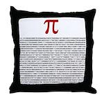 Pi = 3.1415926535897932384626 Throw Pillow