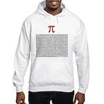 Pi = 3.1415926535897932384626 Hooded Sweatshirt
