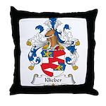 Klieber Family Crest Throw Pillow