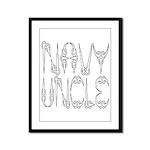 Navy Uncle Framed Panel Print