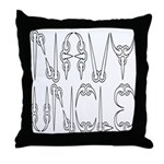 Navy Uncle Throw Pillow