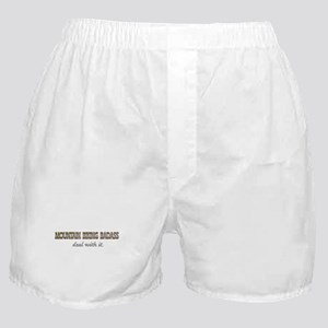 mountain biking Boxer Shorts