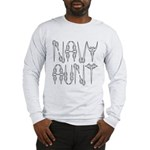 Navy Aunt Long Sleeve T-Shirt