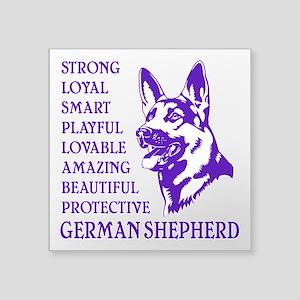 "LOYAL DOG Square Sticker 3"" x 3"""