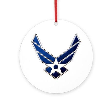USAF 3 Diamond Symbol Round Ornament