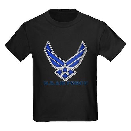 USAF 3 Diamond Symbol Kids Dark T-Shirt
