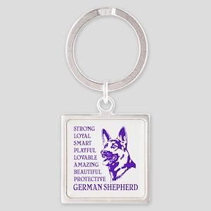 LOYAL DOG Square Keychain