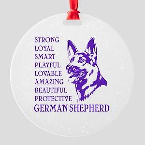 LOYAL DOG Round Ornament