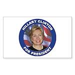 Hillary Clinton for President Rectangle Sticker 1