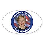 Hillary Clinton for President Oval Sticker (10 pk)