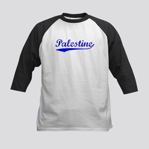Vintage Palestine (Blue) Kids Baseball Jersey