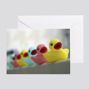 Rubber Duckies Greeting Card