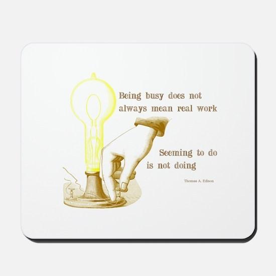 Edison Quote Mousepad